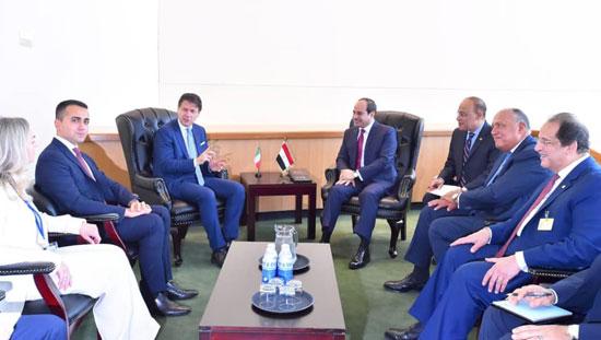 الرئيس عبد الفتاح السيسي يلتقى رئيس وزراء إيطاليا جوزيبي كونتى (1)