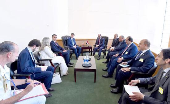 الرئيس عبد الفتاح السيسي يلتقى رئيس وزراء إيطاليا جوزيبي كونتى (3)