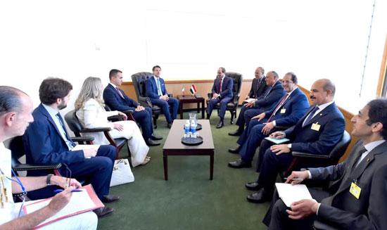 الرئيس عبد الفتاح السيسي يلتقى رئيس وزراء إيطاليا جوزيبي كونتى (2)