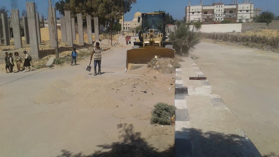 رفع المخلفات من شوارع الشيخ زويد