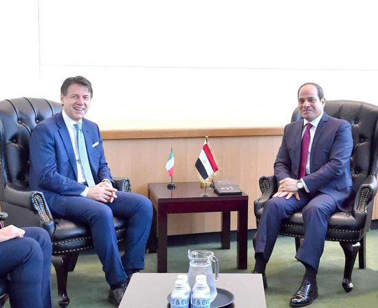 الرئيس عبد الفتاح السيسي يلتقى رئيس وزراء إيطاليا جوزيبي كونتى (4)