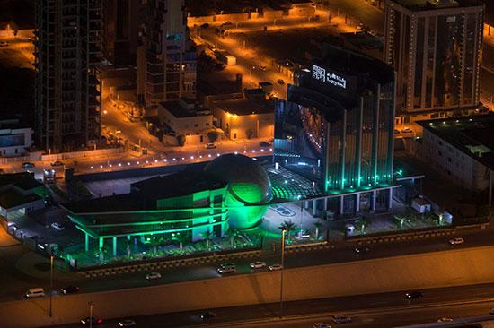 وكالة واس تتزين باللون الأخضر