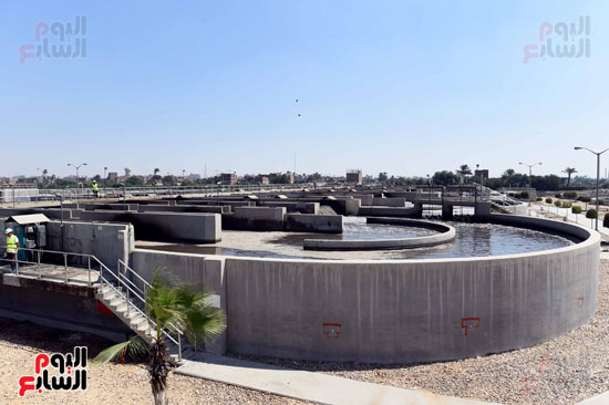 محطة معالجة الصرف الصحى ببنى سويف