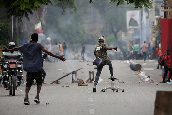مظاهرات-فى-هايتى