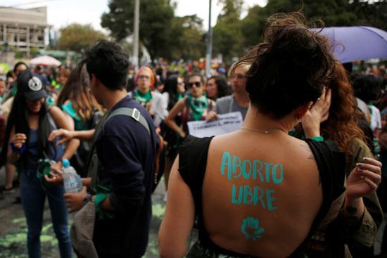 احتجاجات ضد عدم تشريع الإجهاض