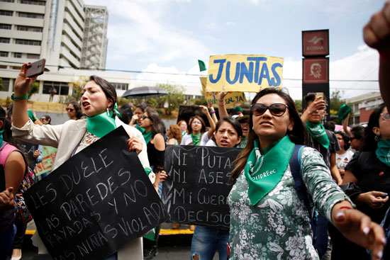 احتجاجات لتشريع الإجهاض فى الإكوادور
