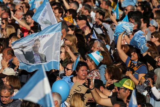أنصار  الرئيس الأرجنتينى ماوريسيو ماكرى
