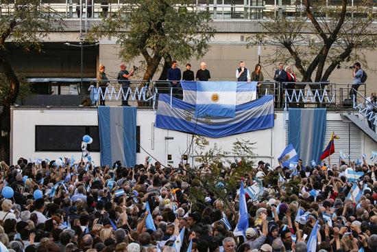 احتشاد أنصار  الرئيس الأرجنتينى ماوريسيو ماكرى