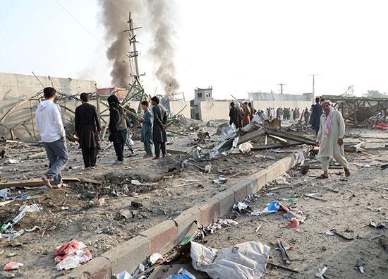 آثار انفجار كابول