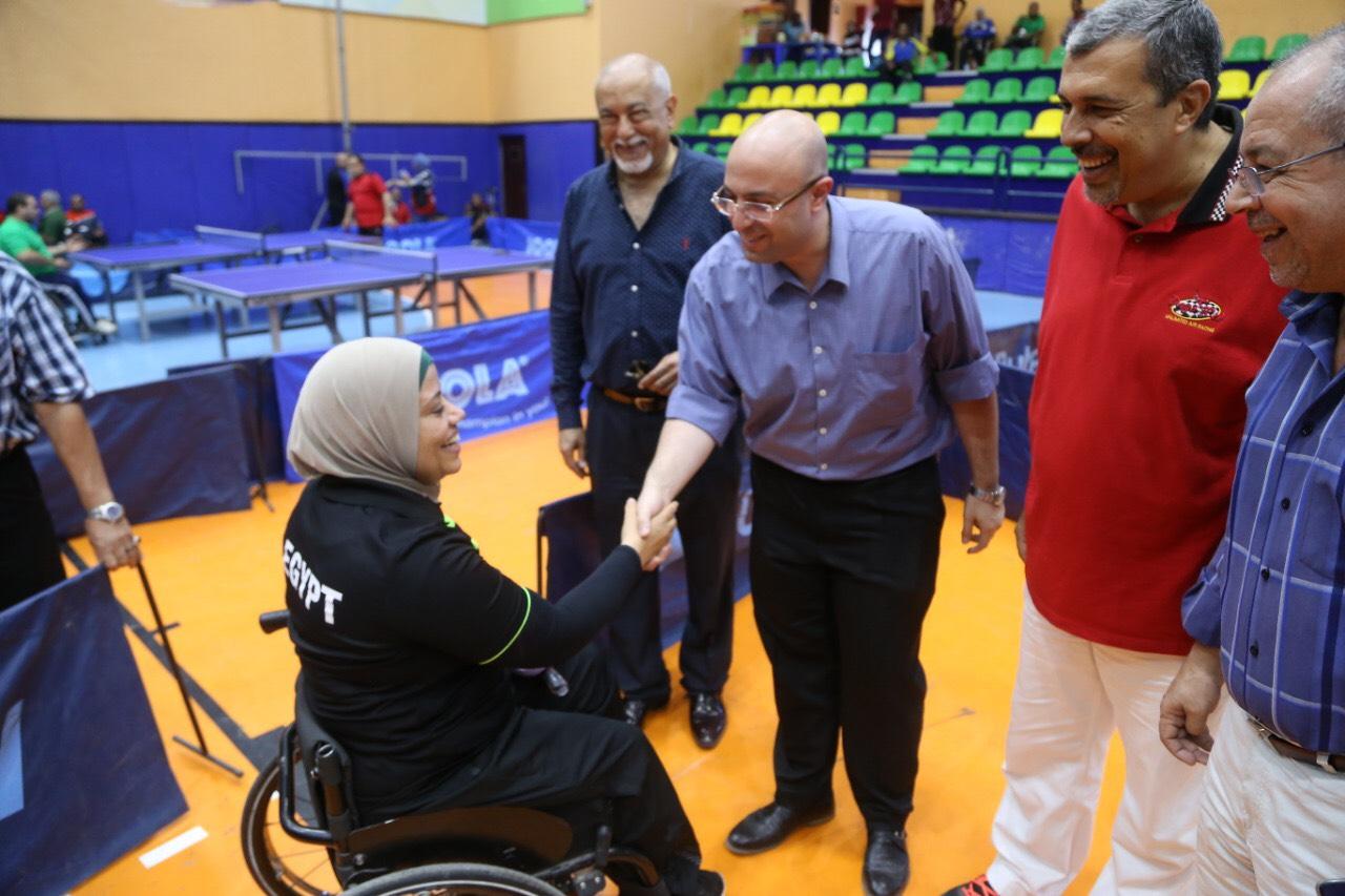 نائب محافظ بورسعيد يشهد بطولة الجمهورية للتنس (2)