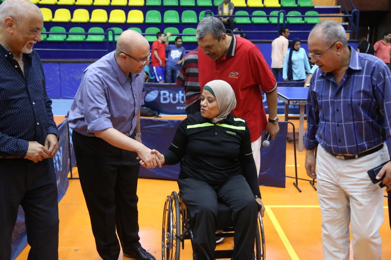 نائب محافظ بورسعيد يشهد بطولة الجمهورية للتنس (1)