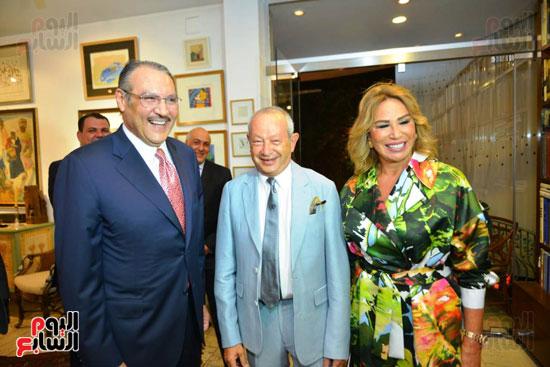 السفير السعودى ونجيب ساويرس وإيناس الدغيدي