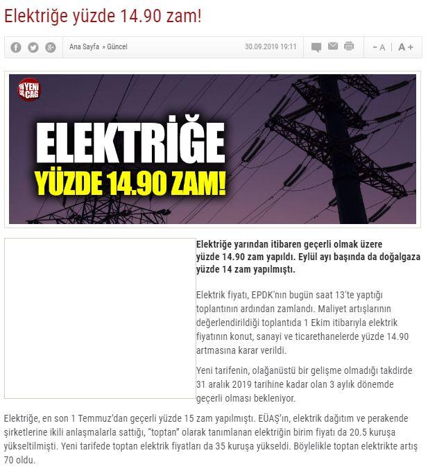 تركيا ترفع اسعار الكهرباء