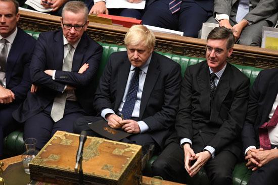 بوريس جونسون أثناء جلسة مجلس العموم البريطانى