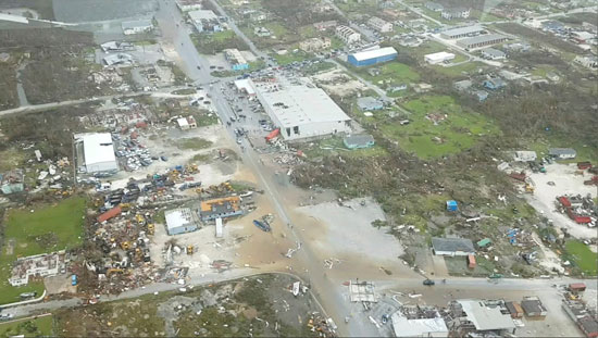 أثار الإعصار دوريان على جزر الباهاما
