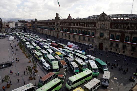 إضراب سائقين النقل العام
