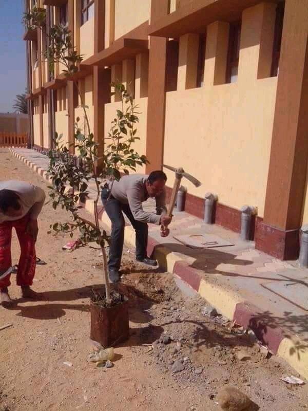 مدير مدرسه باسيوط ينظف الحمامات (1)