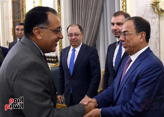 رئيس الوزراء يستقبل وزير التجارة والاقتصاد اللبنانى (1)