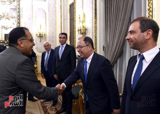 رئيس الوزراء يستقبل وزير التجارة والاقتصاد اللبنانى (2)