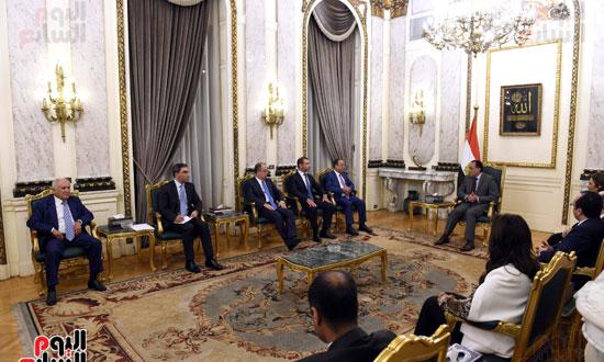 رئيس الوزراء يستقبل وزير التجارة والاقتصاد اللبنانى (6)