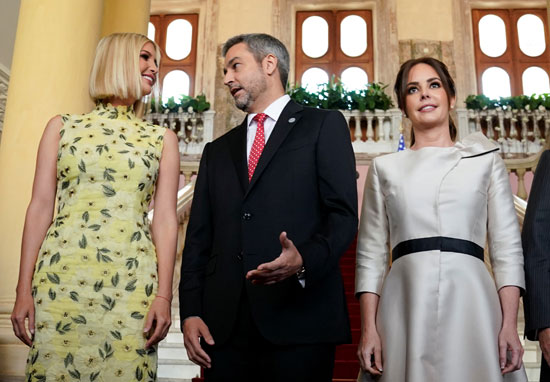 إيفانكا ترامب مع رئيس باراجواى