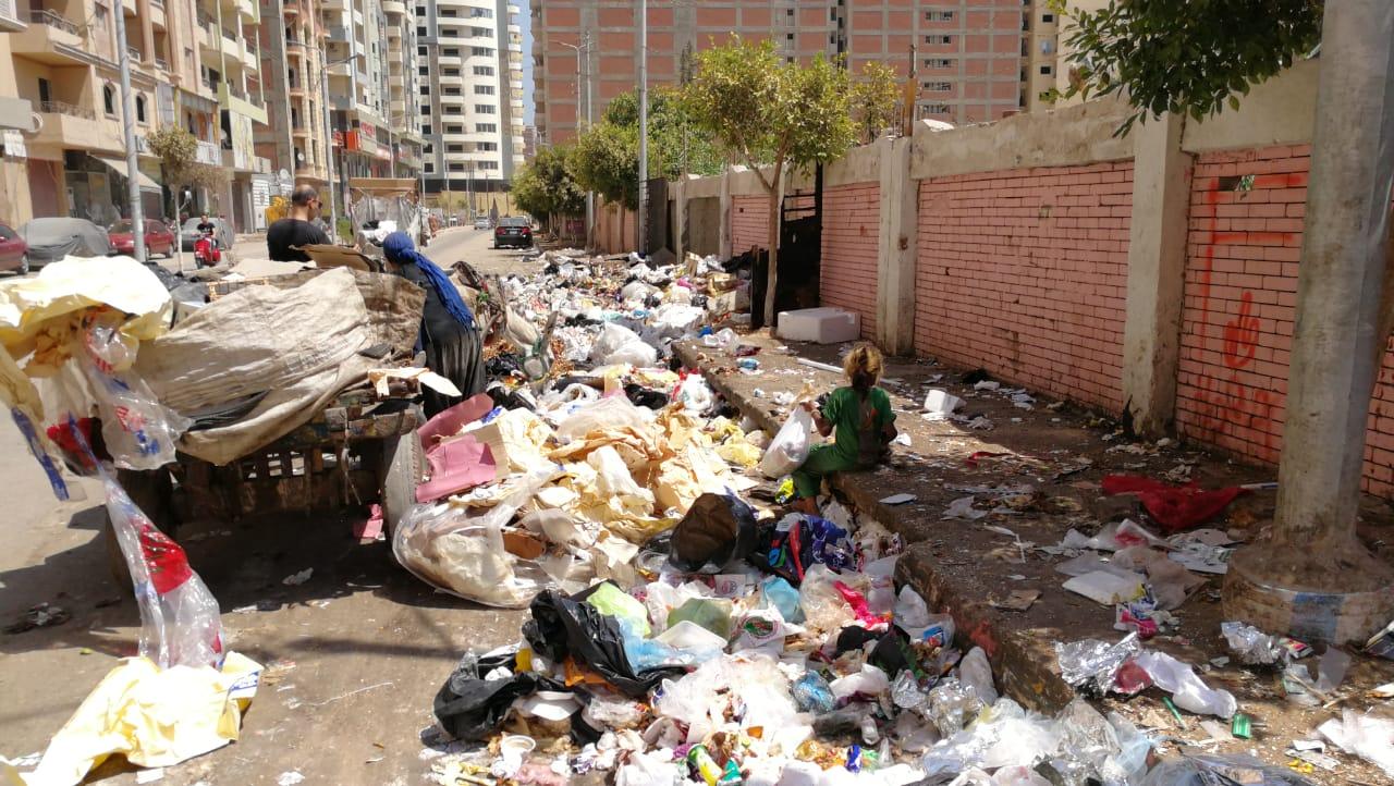 القمامة تحاصر مدرسة ناصر الثانوية الزراعية  (2)