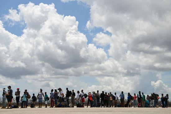 وصول 250 متضررا من إعصار دوريان إلى ناسو