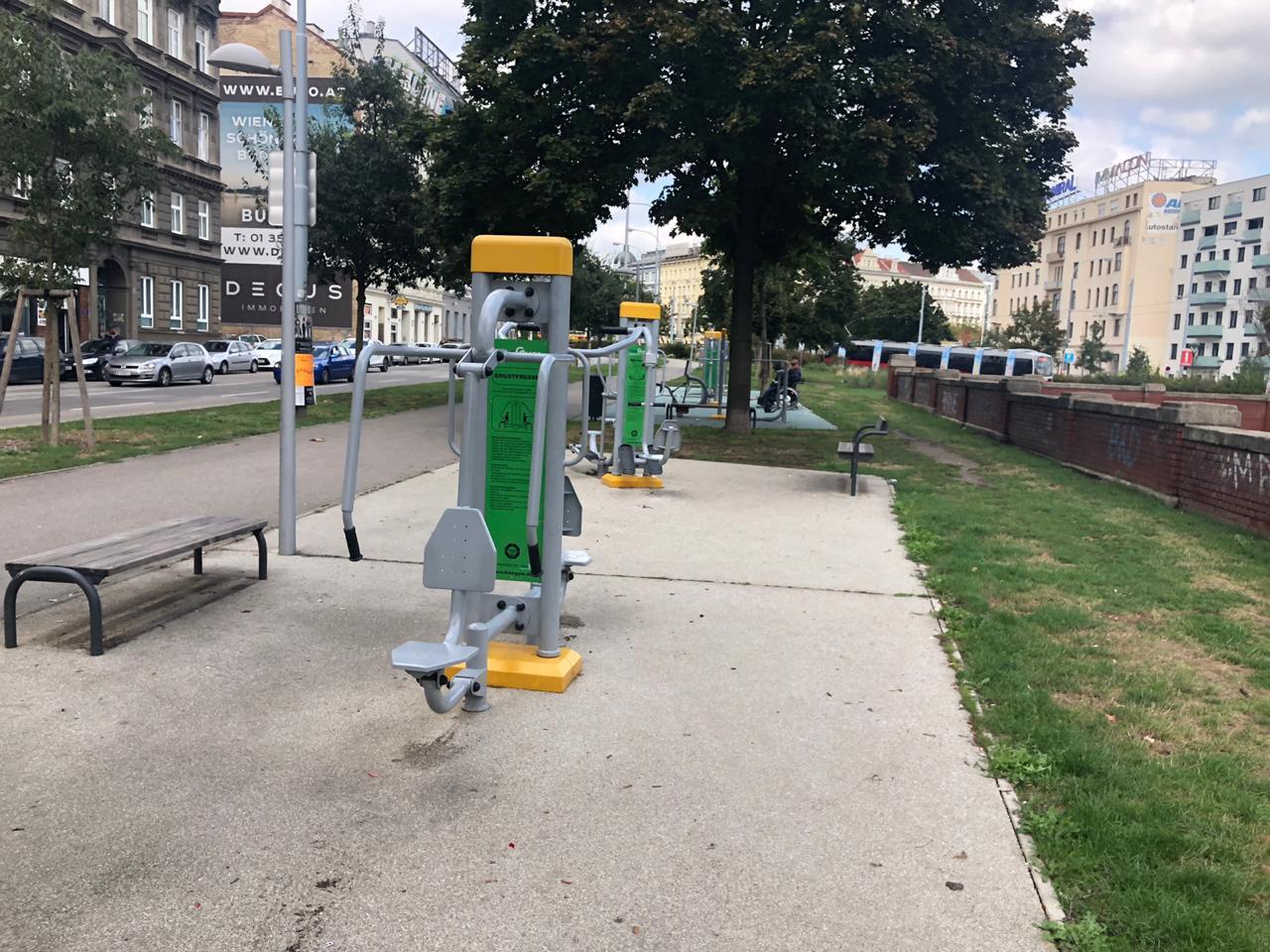 """فيينا تضع أجهزة """"الجيم"""" بالشارع مجانا"""
