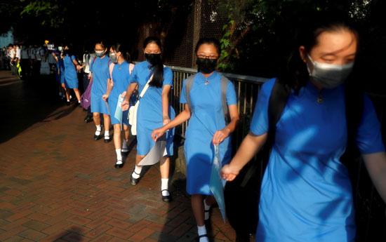 طالبات-هونج-كونج
