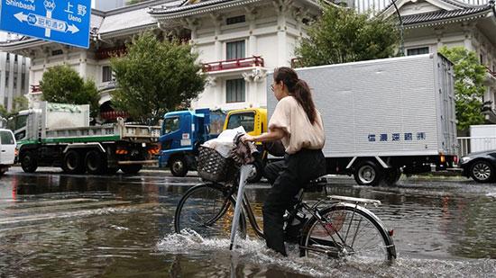إعصار فاكساى فى اليابان