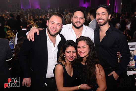 محمد على رزق وزوجته وباهر النويهى