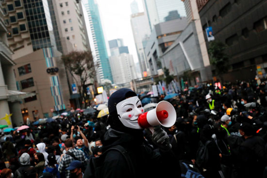 متظاهرو هونج كونج
