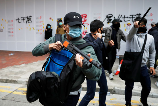 مظاهرات ضد الحكومة فى هونج كونج