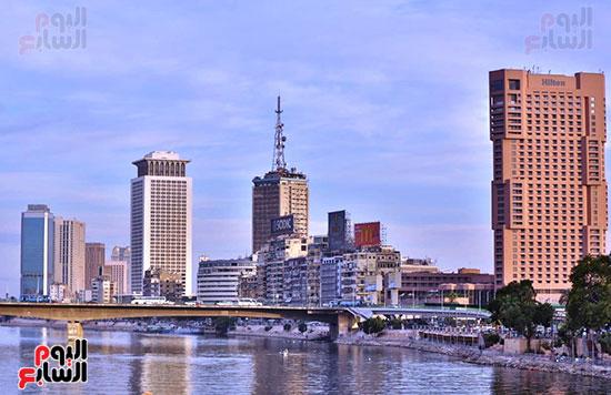 مبنى التلفزيون المصرى ووزاره الخارجيه ومركز التجاره المطلين على نهر النيل