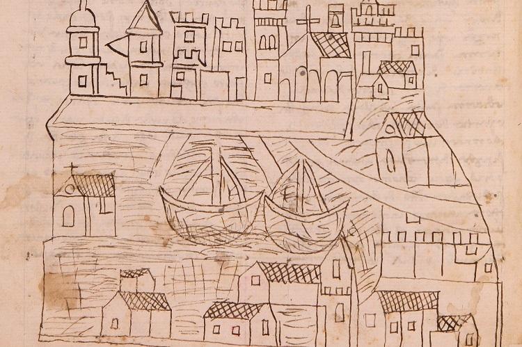 أقدم رسمة لمدينة البندقية