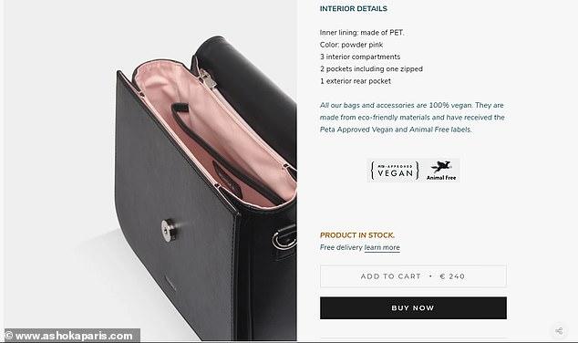 منظمة امريكية تهدى حقيبة مصنوعة من قشور التفاح لكيت ميدلتون