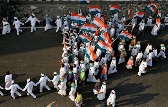 مسيرة فى الهند