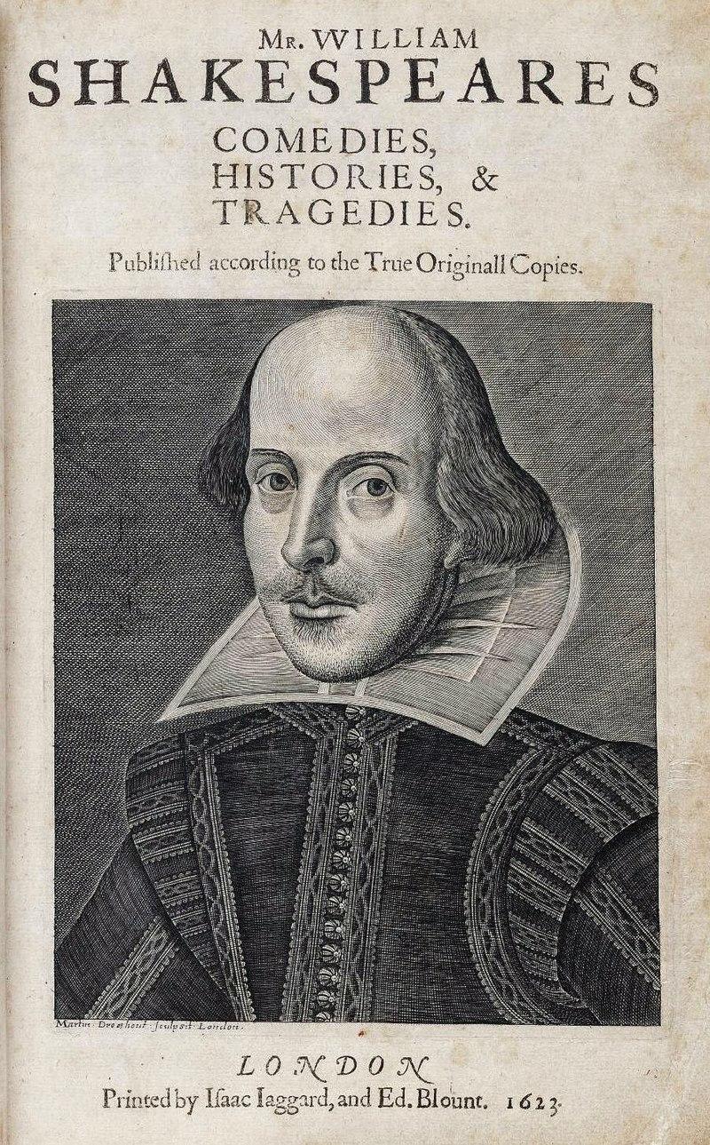 الورقة الأولى لشكسبير