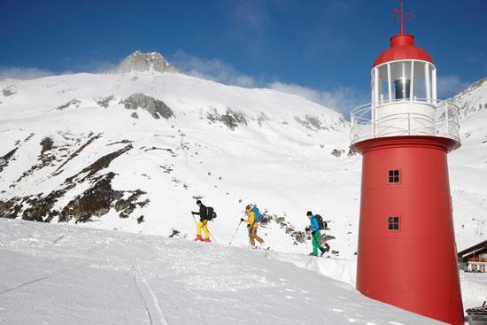 جانب من التزلج