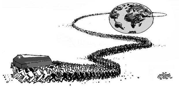 كاريكاتير الحزن على رحيل كابوس