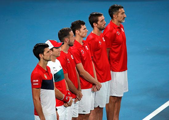 فريق صربيا قبل المباراة النهائية أمام أسبانيا