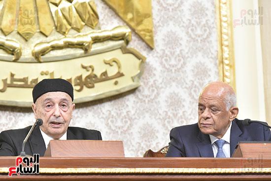 رئيس البرلمان الليبى  المستشار عقيله صالح