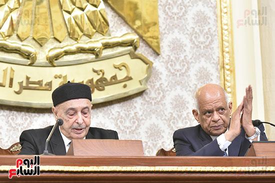 رئيسا البرلمان المصرى و الليبى