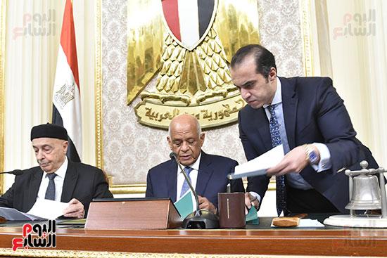 على عبد العال ورئيس البرلمان الليبى