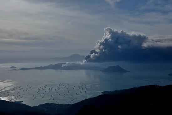 ثوران بركان بالفلبين