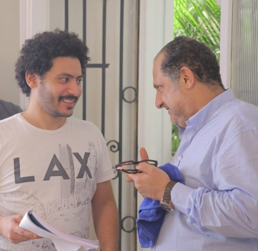 خالد الصاوى والمخرج محمد سلامة