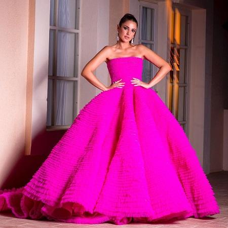 فستان فوشيا