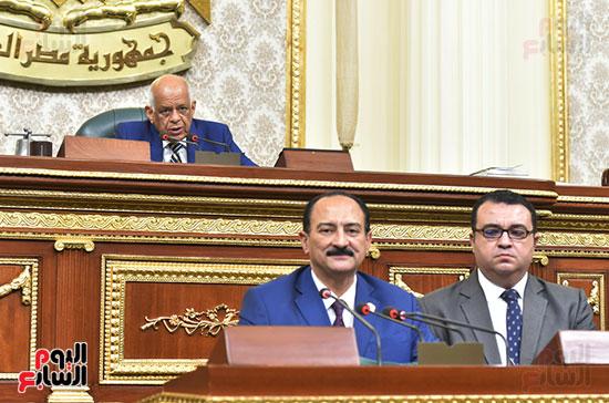 على عبد العال خلال الجلسة العامة للبرلمان