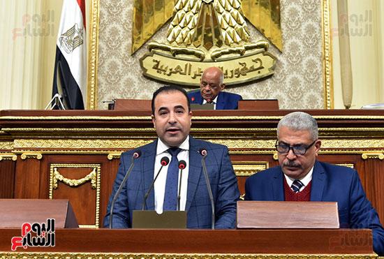 النائب أحمد بدوى خلال الجلسة العامة