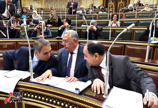 وزير المالية خلال الجلسة العامة لمجلس النواب